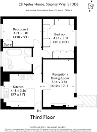 Apsley House Floor Plan 2 Bedroom Apartment For Sale In Stepney Way E1 E1