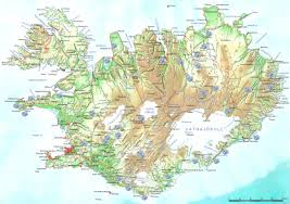 Iceland World Map Iceland Map Showing 2011 Photo Locations Wildernesscapes