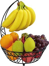 fruit basket stand surpahs countertop fruit basket stand w detachable banana hanger