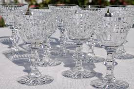 Antique Glassware Identification Early Cut Glass Marks Vintage Crystal Stemware U0026 Bar Glasses