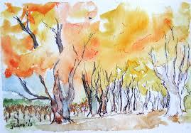 colors close to yellow w mendoza tree tunnel close to san martin jan carpenter