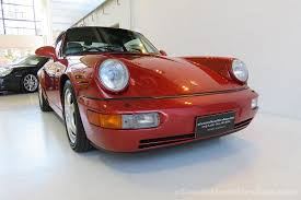 porsche 964 red 1990 porsche 911 carrera 4 classic throttle shop
