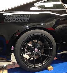 Black Mustang Wheels 2015 Mustang Test Fitted With Hre Wheels U2013 Americanmuscle Com Blog