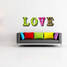 aliexpress com buy home decor led wall light 26 letters