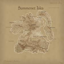 Elder Scrolls Map Summerset Isles Elder Scrolls Fandom Powered By Wikia