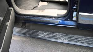how to fix lincoln navigator running boards youtube