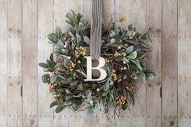 monogram wreath decorate your door with these stylish wreaths cricut