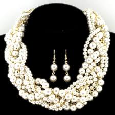 chunky pearl fashion necklace images Braided chunky pearl necklace usjewelryhouse JPG