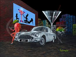 martini olive art michael godard the official artist website