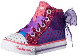 American Flag Shoes Amazon Com Skechers Kids Shuffles Pixie Bunch Lighted Sneaker