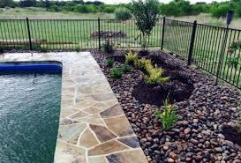 Landscaping Around Pools by Oklahoma Flagstone Around Pool With Arizona River Rock