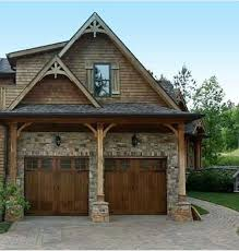 craftsman style garages the garage doors are a must cabin in the woods