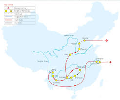 Shanghai China Map by Tour Map Of China Ancient Town Tour China Tour Map