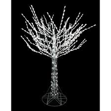 home accents 8 ft led pre lit bare branch tree with white