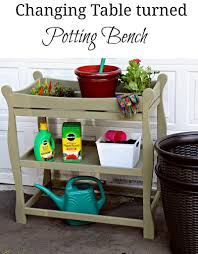 How To Make A Baby Changing Table Table Becomes Potting Bench