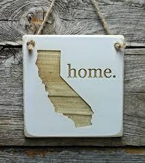 california home hanger wood ornament california