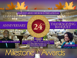 24th anniversary thanksgiving day banquet harvest army world revival