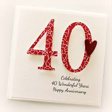 what is 40th wedding anniversary images for 40th wedding anniversary