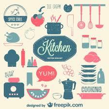 pictogramme cuisine gratuit vecteur de cuisine ensemble rétro plat vecteur gratuit vecteur et