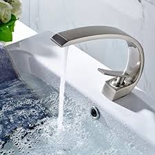 Amazon Bathroom Sink Faucets by Flg Modern Solid Brass Single Handle Bathroom Sink Faucet Brushed