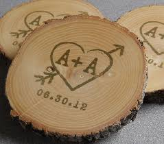 wedding coaster favors personalized rustic wedding favors ash coasters sted and