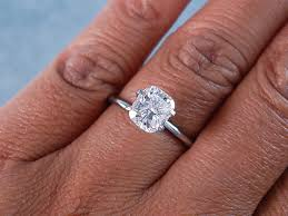 cushion solitaire engagement rings 1 53 ct cushion cut solitaire engagement ring f si2