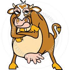 cartoon cow vector illustration by clip art guy toon vectors eps
