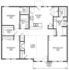 Floor Plans For 1 Story Homes Baby Nursery 3 Bedroom Floor Plans 3 Bedroom Floor Plans With