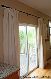patio door draperies panel track for patio door with roman shades