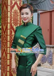 Thai Wedding Dress Traditional Thai Wedding Peacock Dress Complete Set