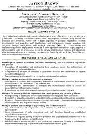 federal resume for contract specialist cover letter objectives
