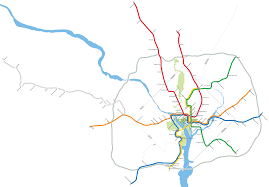 Trimet Max Map A Simple Map Of The Tokyo Metro