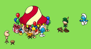 Costume Party Wikipedia by Image Party Smurf Hut And Costume Jpg Smurfs Wiki Fandom