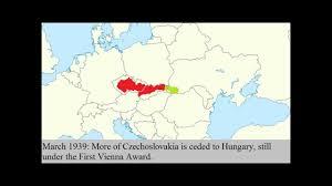 Czechoslovakia Map Czechoslovakia During Ww2 Youtube