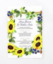 sunflower wedding invitations watercolour sunflower wedding invite invitations