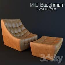 milo baughman thayer coggin lounge chair and ottoman