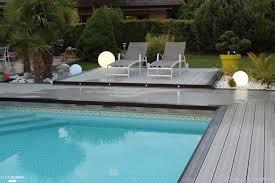 photo terrasse composite rénovation d u0026 039 une plage de piscine en bois composite gris