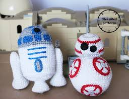 star wars crochet patterns characters bb8 and r2d2