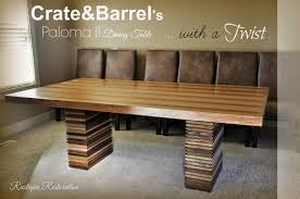 Dining Tables  Farmhouse Dining Room Table Crate And Barrel - Counter height dining table crate and barrel