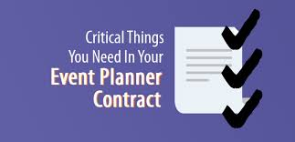 how to be a party planner 5 critical things you need in an event planner contract