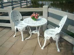 Aluminium Patio Table White Garden Table And Chairs Chic Cast Aluminium Patio Furniture
