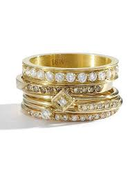 stackable engagement rings stacked engagement rings you ll martha stewart weddings