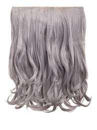 grey hair extensions rosie 1 weft 16 curly hair extensions in silver grey koko couture