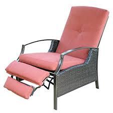 Patio Recliner Chair Sunlife Recliner Chair Adjustable Patio Bistro Garden
