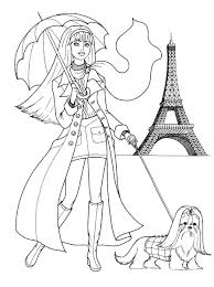 fashion coloring pages fashionable girls picture coloring