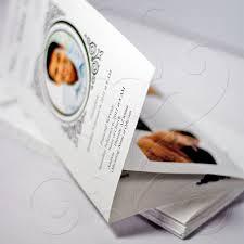 funeral programs printing funeral program vintage loop tri fold fast funeral printing