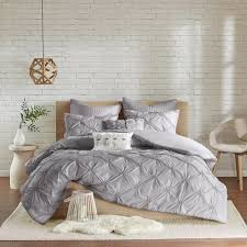 Duvet Covers Gray Urban Habitat Callie Grey Embroidered 7 Piece Duvet Cover Set With