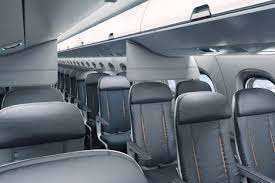 Airplane Interior Priestmangoode Designs Aircraft Interior With More Luggage Space
