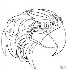 abstract parrot coloring page free printable coloring pages