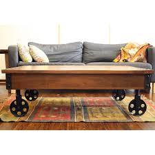 awesome coffee table wheels handmade timbergirl reclaimed wood